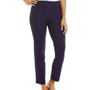 Slim Ankle Pants stretchy navy blue